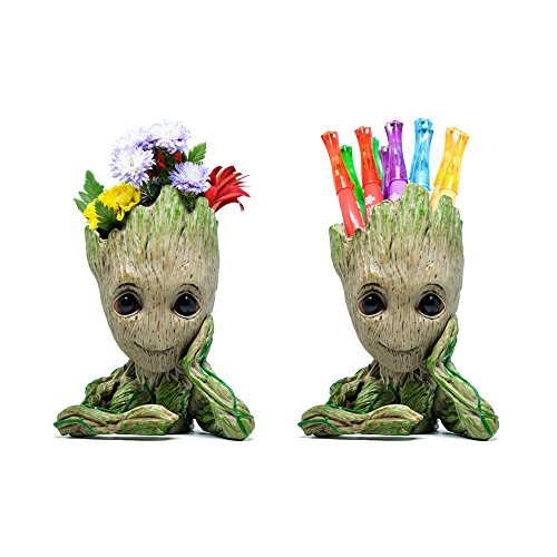 Eternal 3arth - Baby Groot Flowerpot Guardians of The Galaxy Action Figures Cute Model Toy with Pen Pot Holder - Decorative Indoor Action Hero for Kids and Children | Great Toy Gift by Eternal 3arth
