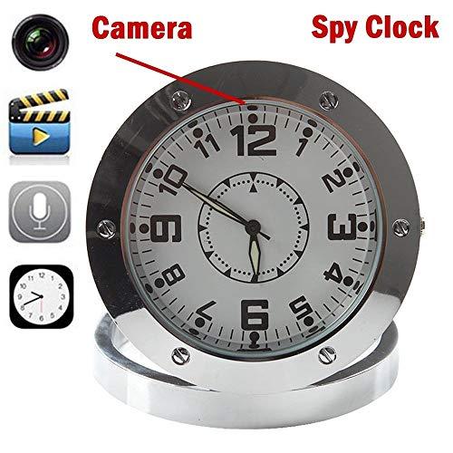 520 Mini Table Clock Metal Spy Camera DVR Video Recorder Hidden Cam Camcorder