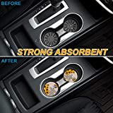 YOUNGKIDS 2 Pack Cup Holders Car Coasters for