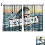DESPKON Active Printing Fabric Polyester Material ecoratis Fun Quotes Ocean Animals Scary Accessories for Men Cave Ideas Digital for Cartoon Children's Room W96 x L84