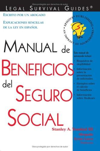 Download Manual de Beneficios del Seguro Social: (Social Security Benefits Handbook (Spanish Edition)) ebook