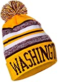 American Cities USA Fashion Block Letters Pom Pom Knit Hat Beanie