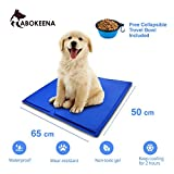 ABOKEENA Pressure Activated Pet Self Cooling Gel Mat Pad - Non-Toxic No Electricity