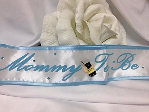 Baby Shower Bumble Bee Mommy to Be Baby Boy Blue and White Sash