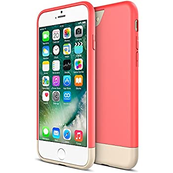 iPhone 7 Case, Maxboost [Vibrance Series] Protective Slider Style Cases for Apple iPhone 7 2016 SOFT-Interior Scratch Protection Finished Hard Cover - Italian Rose/Champagne Gold