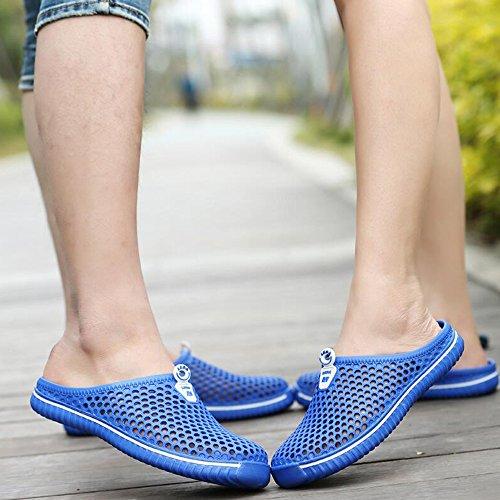 DULEE - Zapatillas de estar por casa para hombre Azul