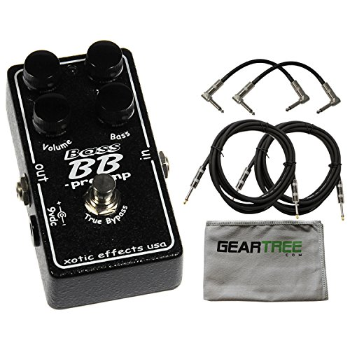 Xotic BASS BB Preamp Effects Pedal w/Cleaning Cloth and 4 Cables