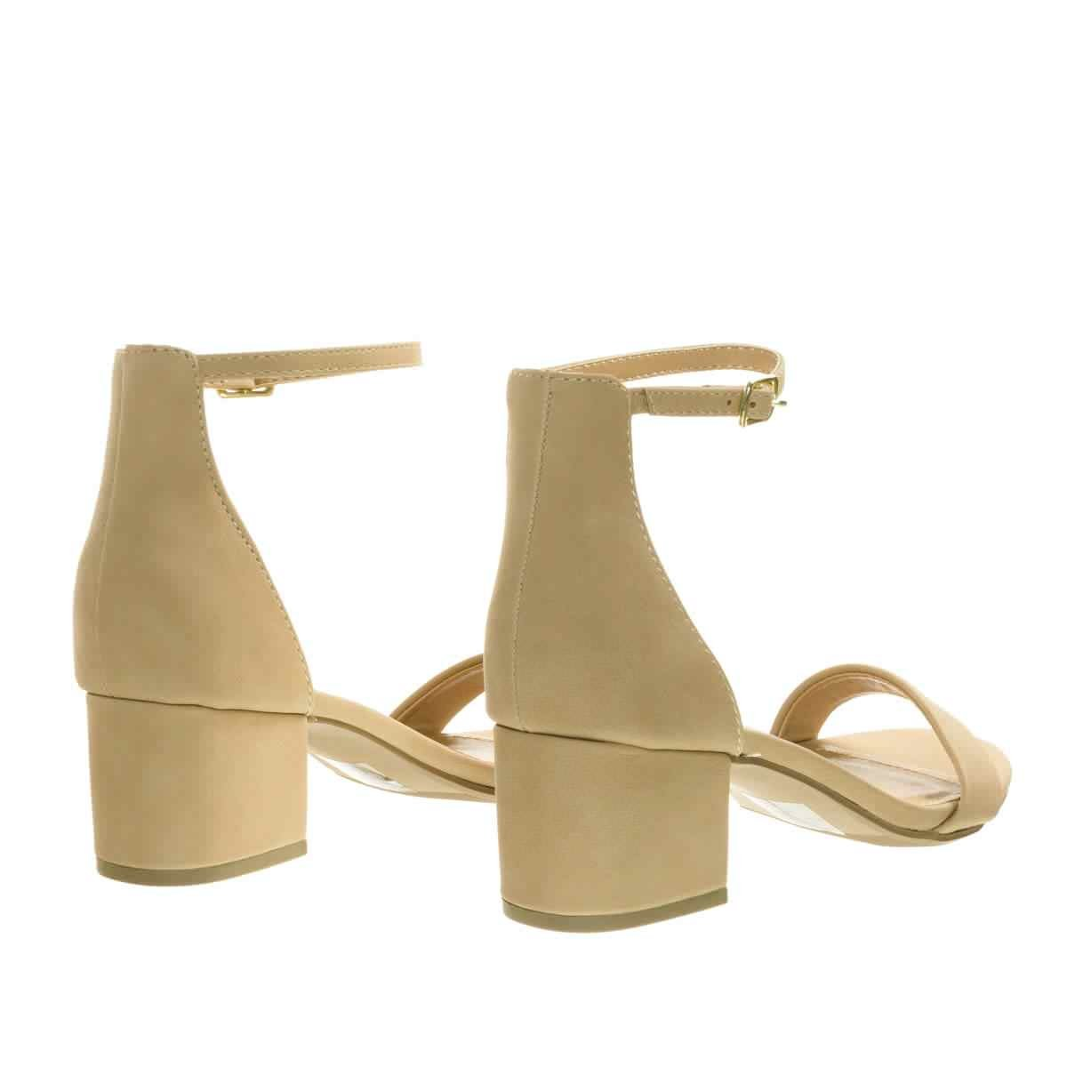 City Classified Womens Block Open Toe Ankle Strap Heeled Sandals