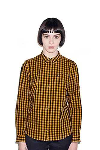 Fred Perry Gingham Shirt - Fred Perry Womens Classic Gingham Shirt Peanut (4)