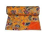 Bhawana Handicrafts Orange Crown Design Kantha