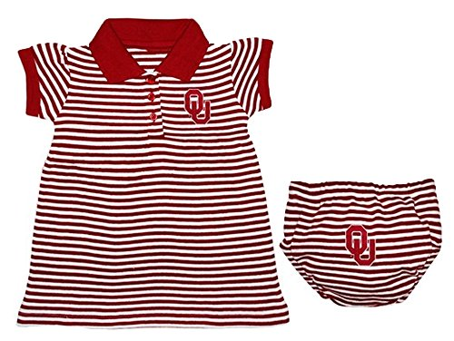 Oklahoma Sooners NCAA Newborn Baby Two Piece Pinstripe Dress (6-9) (Oklahoma Sooners Infant Two Piece)