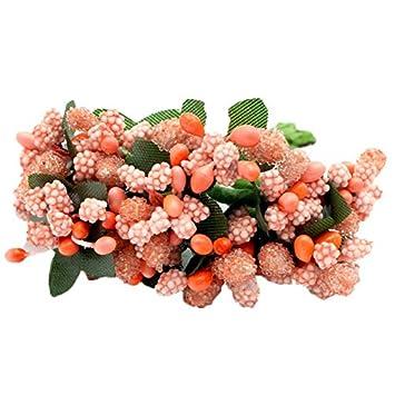 Amazon De Kunstliche Blume Glaser Mit Perlen Blumen Hochzeit Deko