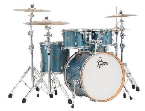 Gretsch Catalina Maple 5 Piece Drum Kit with Hardware-Aqua (Gretsch Catalina Maple 5 Piece)
