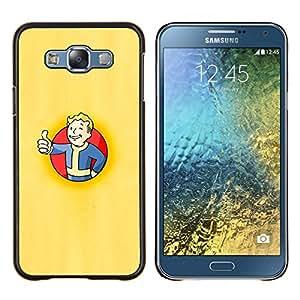 Qstar Arte & diseño plástico duro Fundas Cover Cubre Hard Case Cover para Samsung Galaxy E7 E700 (Fall0ut Boy Shelter)