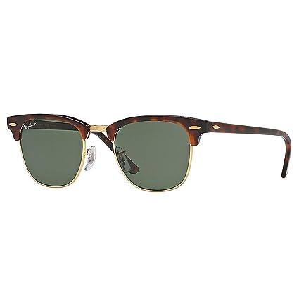 4e4f5543bd Ray-Ban Sunglasses Clubmaster Red Havana Polarized  Amazon.co.uk ...