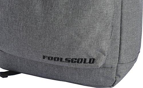 FoolsGold Pro starkes Notebook Laptop Rucksack Tasche bis zu 15,6 Zoll in Hellgrau Hellgrau