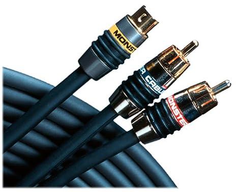 amazon com monster sv2av25 2m s video with rca audio cable kit 2 rh amazon com Stereo Wiring Kits Audio Wiring Tool Kit