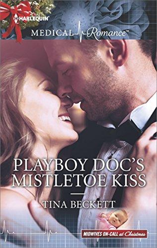 book cover of Playboy Doc\'s Mistletoe Kiss