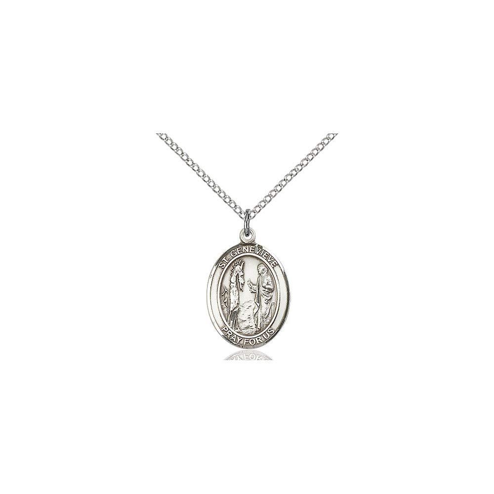 DiamondJewelryNY Sterling Silver St Genevieve Pendant