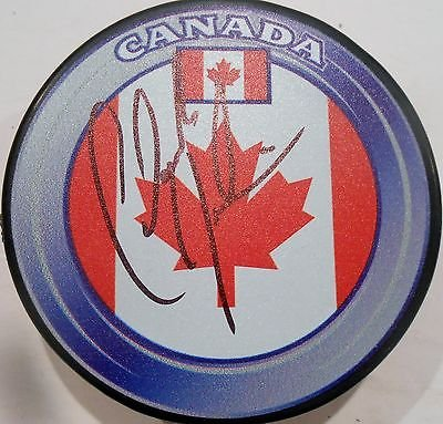 Claude Julien Signed Team Canada Hockey Puck W Coa Boston Bruins