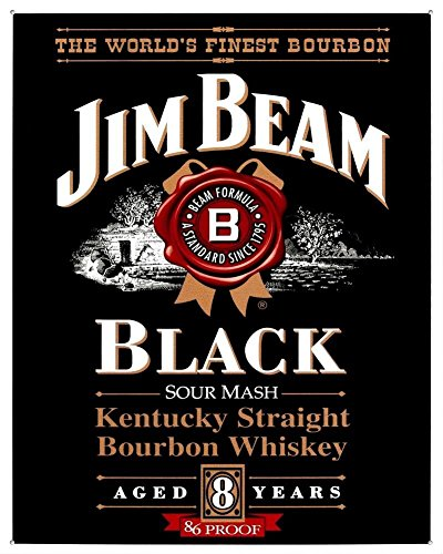 Jim Beam Black Label Tin Sign 13 x 16in ()