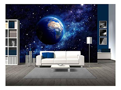 Imaginary View of Planet Earth in a Star Field Elements of This Image furnished by NASA