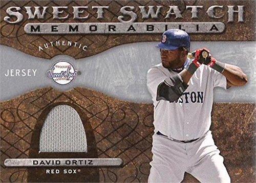 David Ortiz player worn jersey patch baseball card (Boston Red Sox) 2009 Upper Deck Sweet Spot Swatch #SSDO - David Autographed Baseball