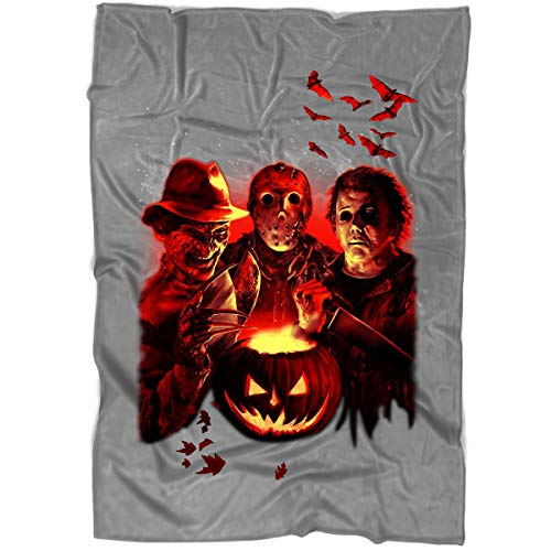 CNTSTORE Horror League Blanket for Bed and Couch, Jason Voorhees Leatherface Blankets - Perfect for Layering Any Bed (Large Blanket (80