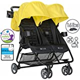 ZOE XL2 DELUXE Double Xtra Lightweight Twin Travel & Everyday Umbrella Stroller System (Black)