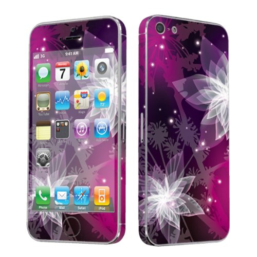 Apple iPhone 5 Full Body Vinyl Decal Protection Sticker Skin Mystery Flower