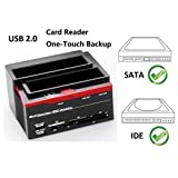 "Ronsen 892U Hard Disk Drive Docking Station - USB 2.0 Dual Port for 2.5""/3.5"" IDE and SATA I/II HDD SSD, with All-in-One Card Reader (SD/XD/Micro SD/TF/MS/M2/CF/MD Card)"