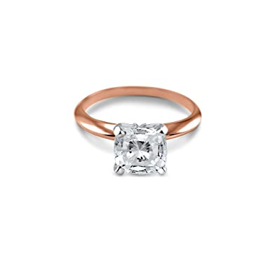 Other Fine Rings 14ct Solid Rose Gold Cz Engagement Ring