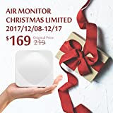 [Early Christmas Deal discount from 219 to 169] Acer Air Monitor - 6 Main Air Quality Indexes Humidity CO2 PM2.5 PM10 TVOC Temperature - Available for IFTTT, Amazon Alexa