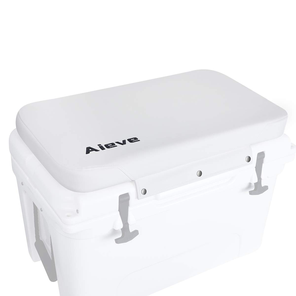 AIEVE Cooler Cushion, Cooler Seat Cushion for YETI and RTIC Tundra 45 Quart Coolers, UV Resistant and Water Resistant Cooler Accessories (White) by AIEVE