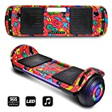 CHO POWER SPORTS 2019 Electric Hoverboard UL Certified Hover Board Electric Scooter with Built in Speaker Smart Self Balancing Wheels (Red)