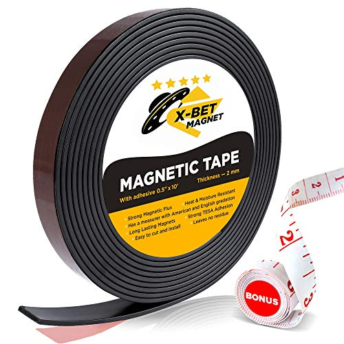 Flexible Magnetic Strip - 1/2 Inch x 10 Feet Magnetic