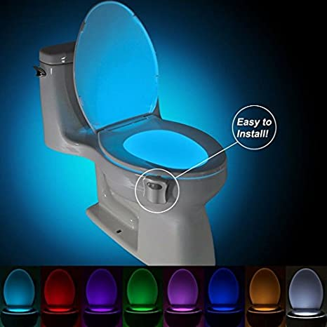 easy home toilet seat. Toilet Bowl Light 2pc Pack Night Motion Sensor