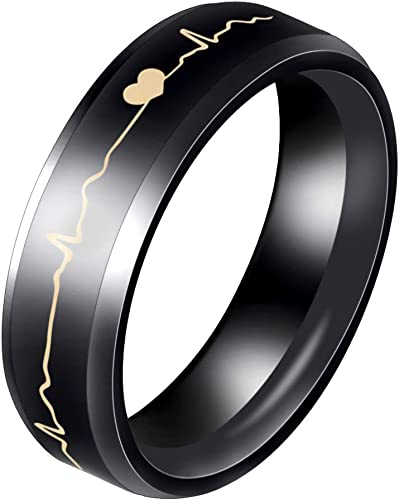 Bridal Titanium Beveled Edge 8mm Polished Band