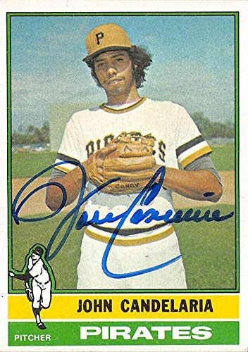 John Candelaria autographed baseball card (Pittsburgh Pirates) 1976 Topps #317 - Baseball Slabbed Autographed Cards ()