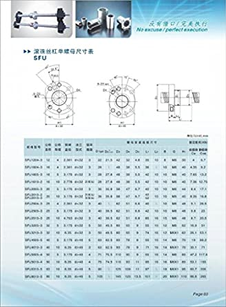 Ten-high Ballscrew RM1605 16mm 500mm with nut+bk/bf12 End Supports+1pcs 6.3510mm Coupler: Amazon.com: Industrial & Scientific
