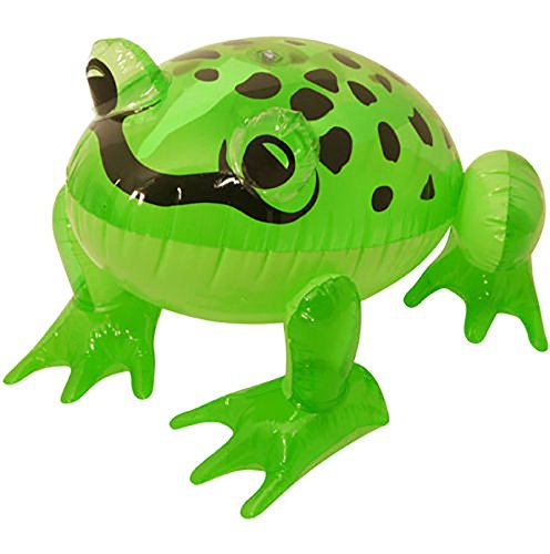 Rimi Hanger Inflatable Green Frog 39CM Blow Up Toy Stag Do Birthday Pool Party Decoration One Size ()