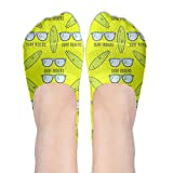 Summer Surfboards With Surfer Glasses Women's Non Slip No-Show Casual Liner Low Cut Sock