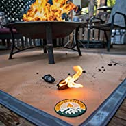 """Ember Mat   67"""" x 60""""   Fire Pit Mat   Grill Mat   Protect Your Deck, Patio, Lawn or Campsite from P"""