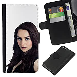 Stuss Case / Funda Carcasa PU de Cuero - Emilia Clarke - Apple Iphone 5C