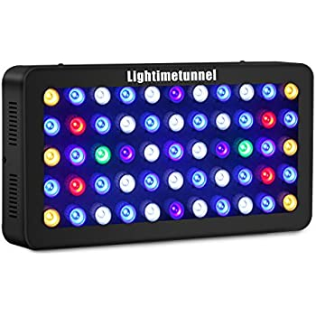 Lightimetunnel 165W LED Aquarium Light, Upgraded Dimmable Fish Tank Light Full Spectrum for Coral Reef Freshwater and Saltwater