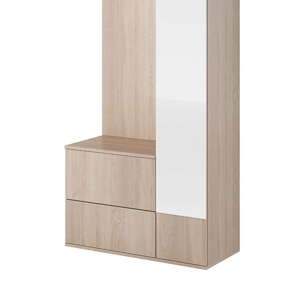 Blanc, 90 cm Vestiaire d/'entr/ée//Ensemble de Meubles pour entr/ée Selsey Elsey Chelsy