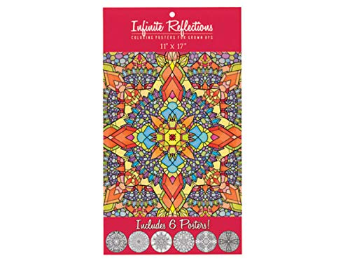 Infinite Reflections Adult Coloring Poster Set - Pack of 24