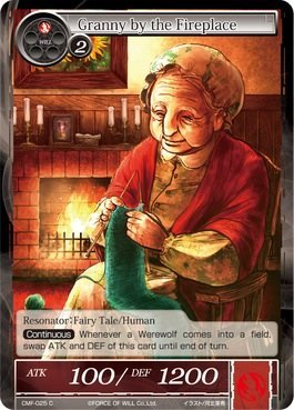 Force of Will Granny by the Fireplace CMF-025 C