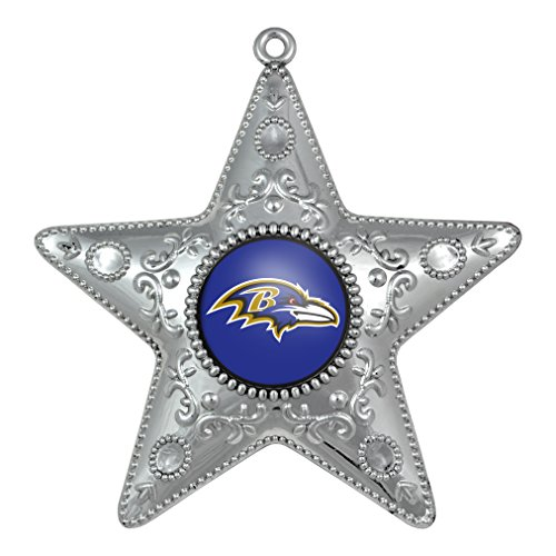 NFL Baltimore Ravens Silverstar Ornament