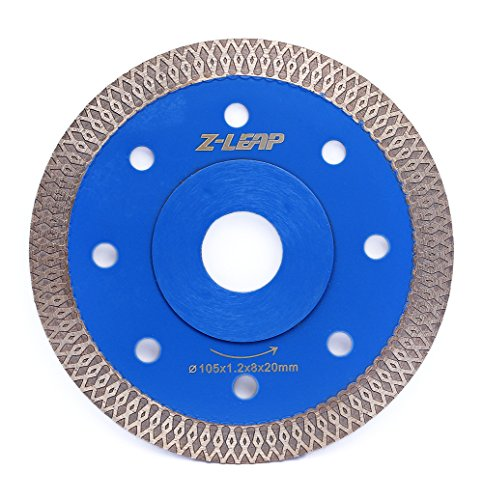 (4 Inch Super Thin Rim Turbo Diamond Saw Blade for Cutting Granite Marble Ceramics Porcelain Tiles)